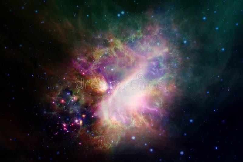 Kosmiskt landskap, enorm sciencetapet med ändlös yttre rymd royaltyfri foto