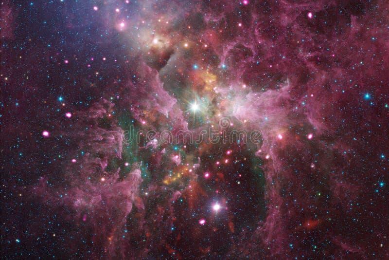 Kosmiskt landskap, enorm sciencetapet med ändlös yttre rymd royaltyfri fotografi