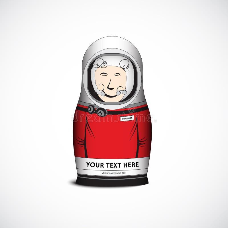 Kosmonautdocka också vektor för coreldrawillustration arkivbilder