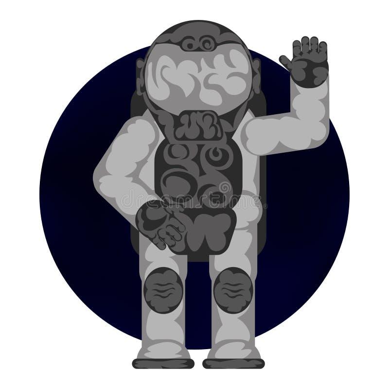 Kosmonauthälsningar stock illustrationer
