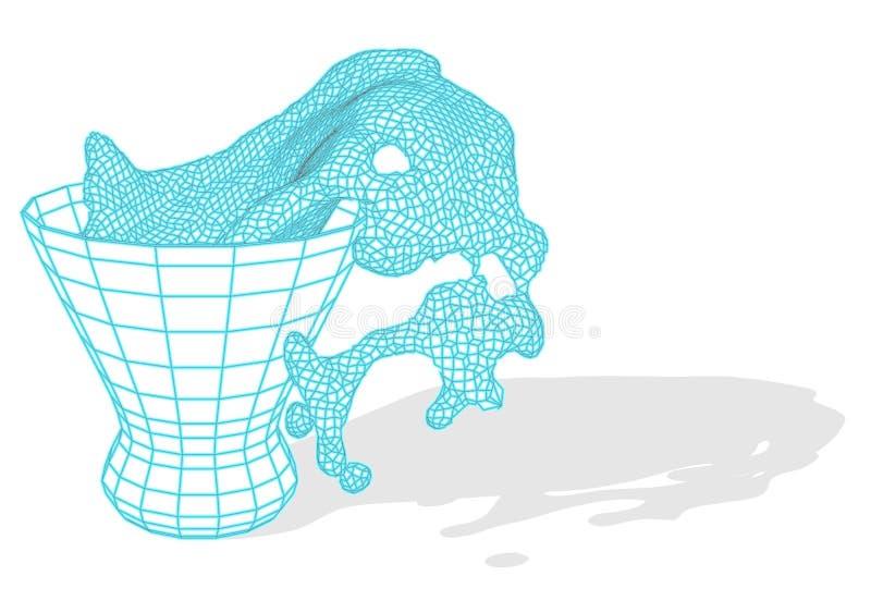 Kosmopolitisch Coctailglas vector illustratie