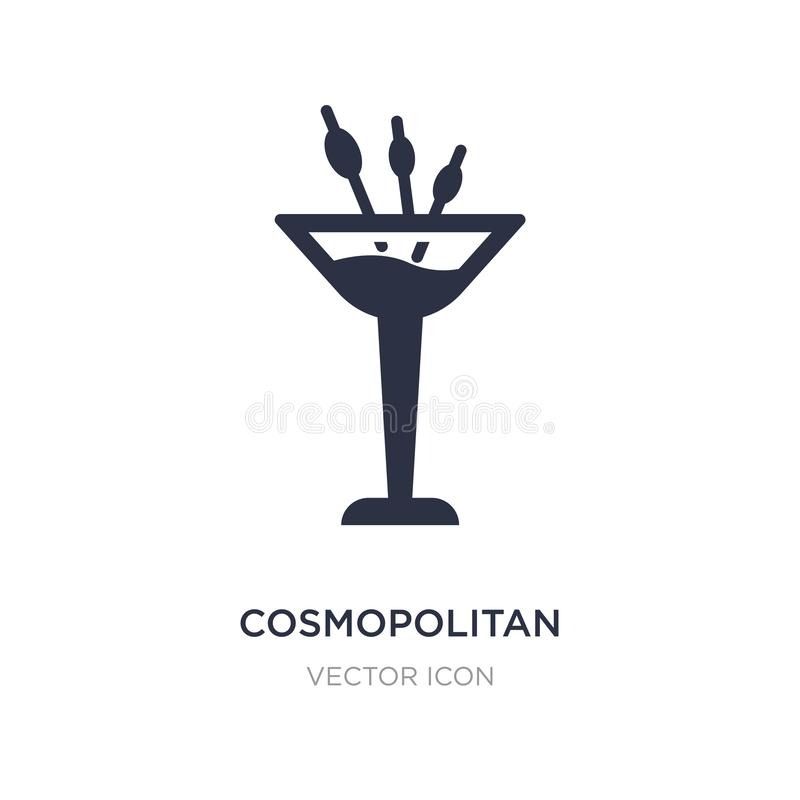 kosmopolitisch pictogram op witte achtergrond Eenvoudige elementenillustratie van Drankenconcept royalty-vrije illustratie
