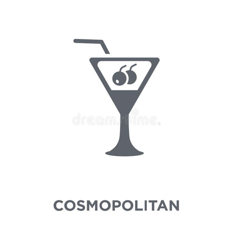 Kosmopolitisch pictogram van Drankeninzameling royalty-vrije illustratie