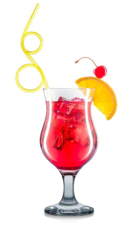 Kosmopolitische Cocktail die op wit wordt geïsoleerde royalty-vrije stock foto's