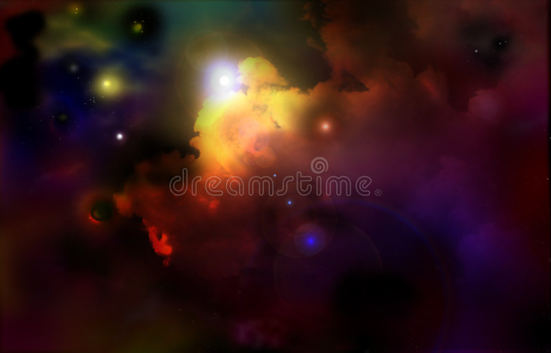 Kosmos royalty-vrije stock afbeelding
