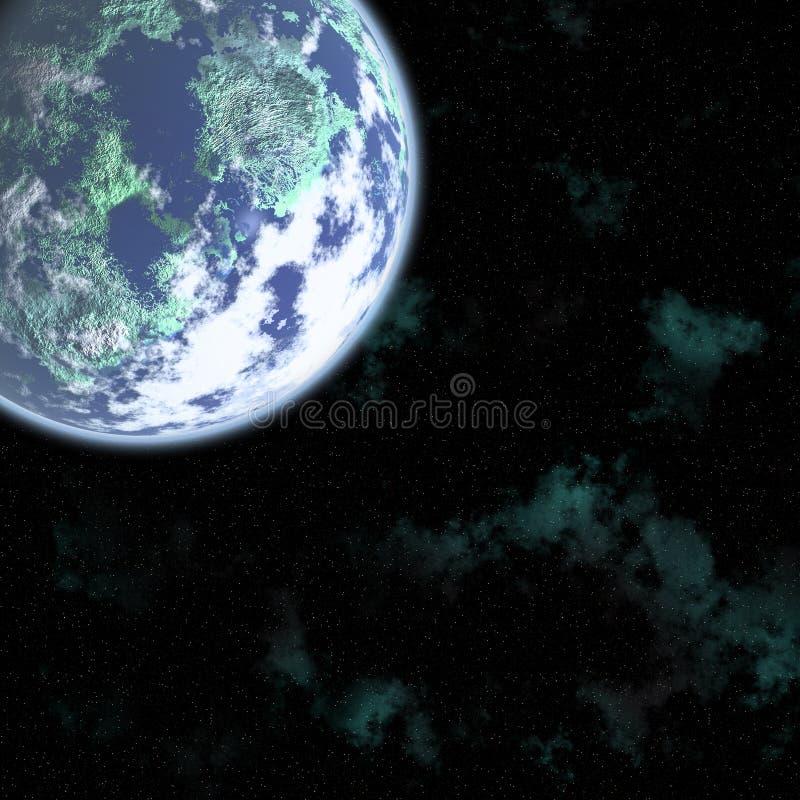 kosmos cyfrowa royalty ilustracja