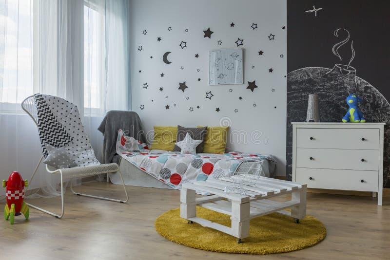 Kosmos in een kindruimte royalty-vrije stock foto's