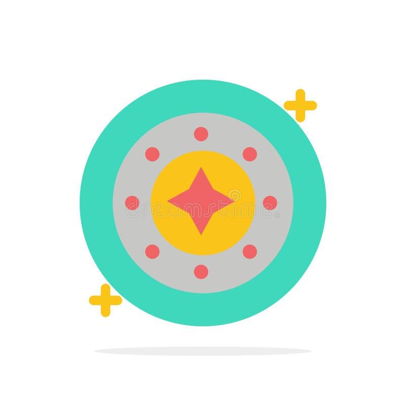 Kosmos, Galaxie, Glanz, Raum, Stern, flache Ikone Farbe des Universum-Zusammenfassungs-Kreis-Hintergrundes lizenzfreie abbildung