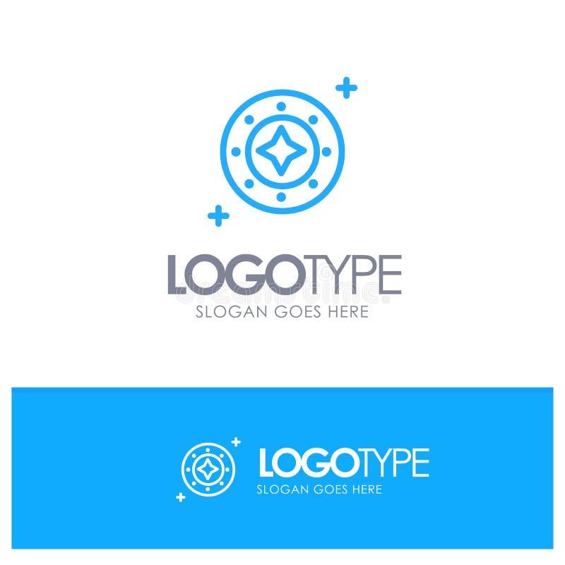Kosmos, Galaxie, Glanz, Raum, Stern, Universum-blauer Entwurf Logo Place für Tagline vektor abbildung