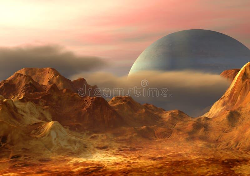 kosmos krajobrazowa ilustracji