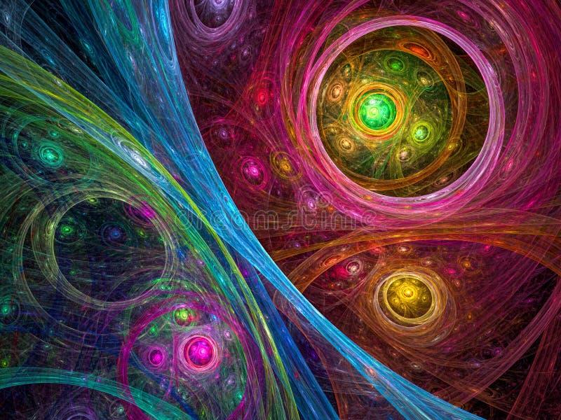 Kosmosbakgrund - frambragd bild för abstrakt begrepp digitalt stock illustrationer