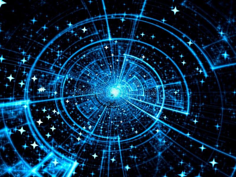 Kosmosschijf - abstract digitaal geproduceerd beeld vector illustratie