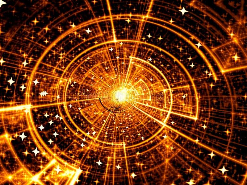 Kosmosschijf - abstract digitaal geproduceerd beeld royalty-vrije illustratie