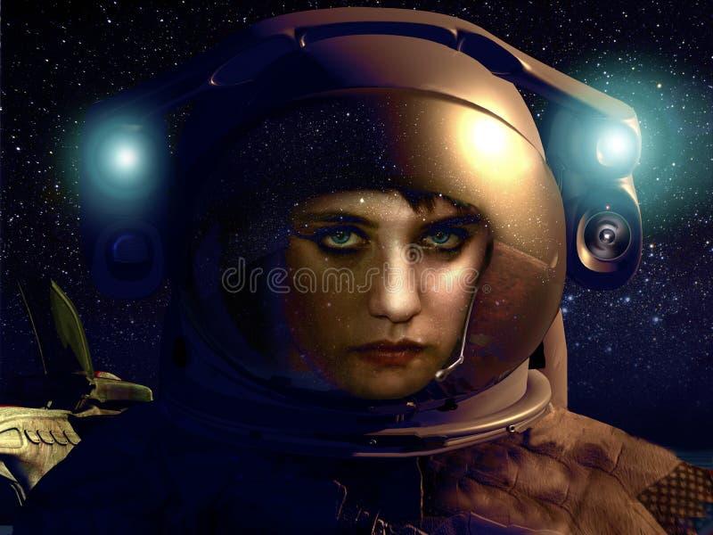 Kosmosschoonheid royalty-vrije illustratie