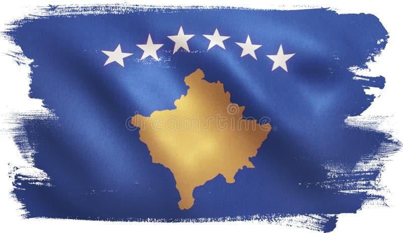 Kosovo Flag royalty free illustration
