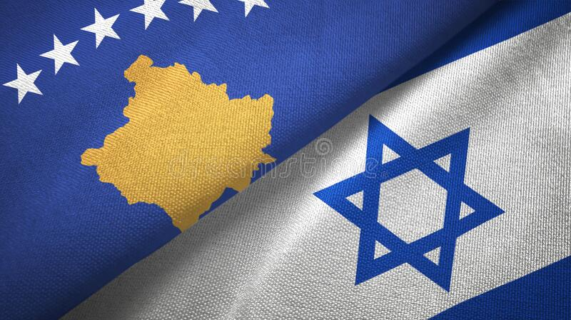 Kosovo Vs Israel Smoke Flags Placed Side By Side Stock Photo - Image of  fire, peace: 123885620