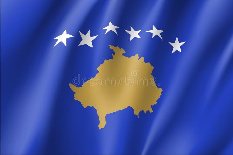 Kosovo national flag vector illustration royalty free illustration