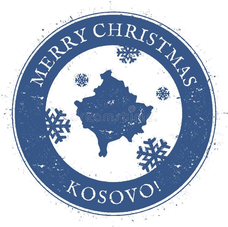 Kosowo mapa Roczników Wesoło bożych narodzeń Kosowo znaczek ilustracji