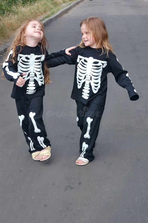 Kostümieren der Skelette lizenzfreie stockbilder