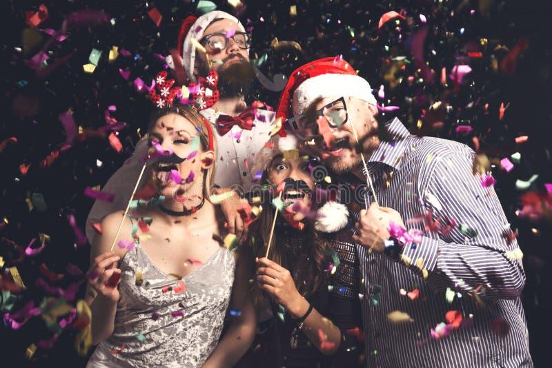 Kostümieren Sie Partei für neues Jahr ` s Eve stockfoto