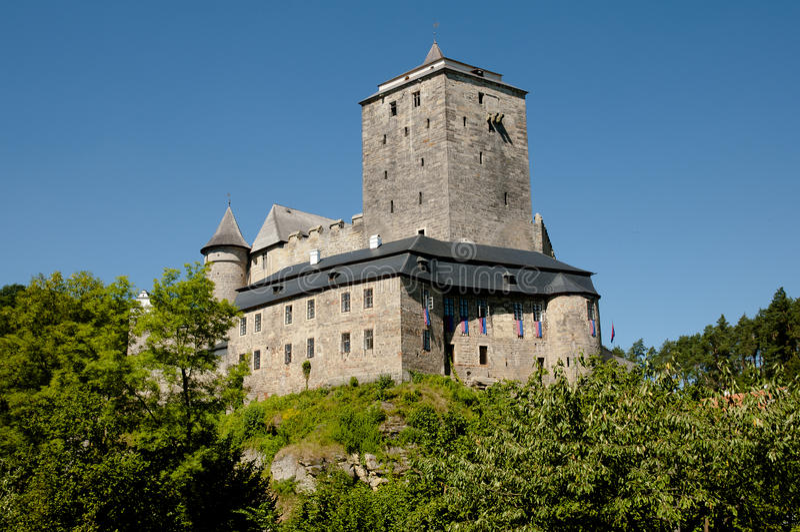 Kost城堡-捷克 库存照片