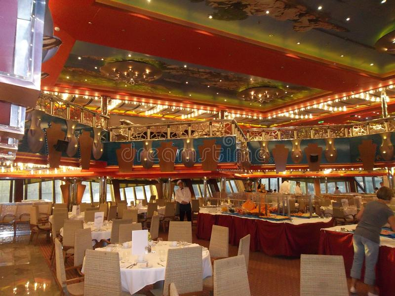 Kosta Magica。餐馆。 免版税图库摄影