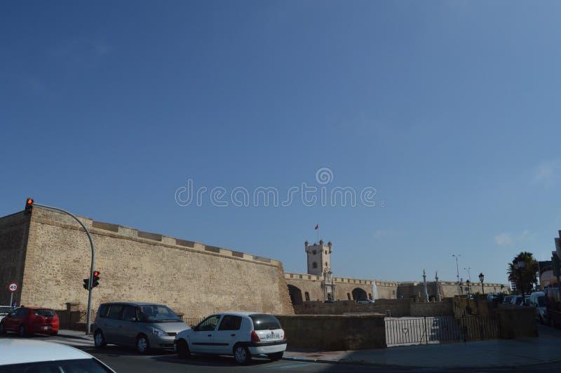 Kostbare Deurmuren van Roman Origin In Cadiz stock foto
