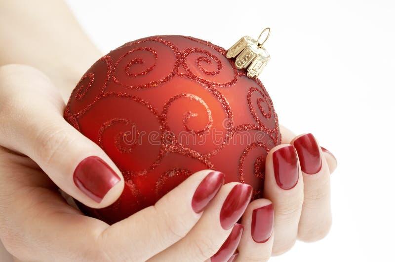 Kostbare Weihnachtskugel stockbilder