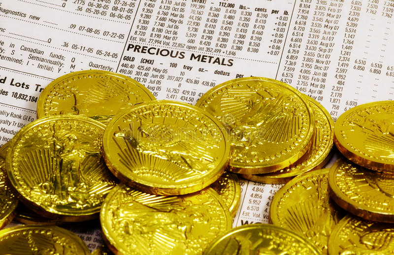 Kostbares Metall stockfotos