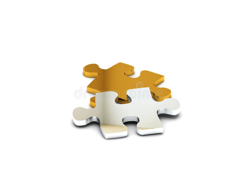 Kostbares Puzzlespiel stock abbildung