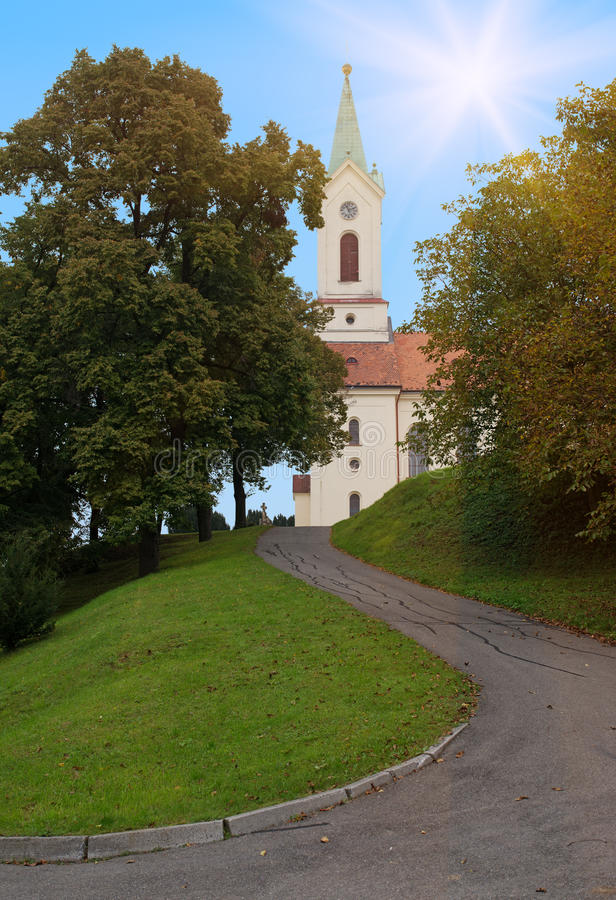 Kostel Архангела St Michael, Svabenice стоковое изображение rf