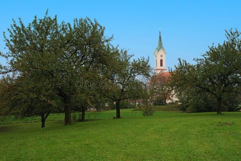 Kostel Архангела St Michael, Svabenice стоковое фото rf