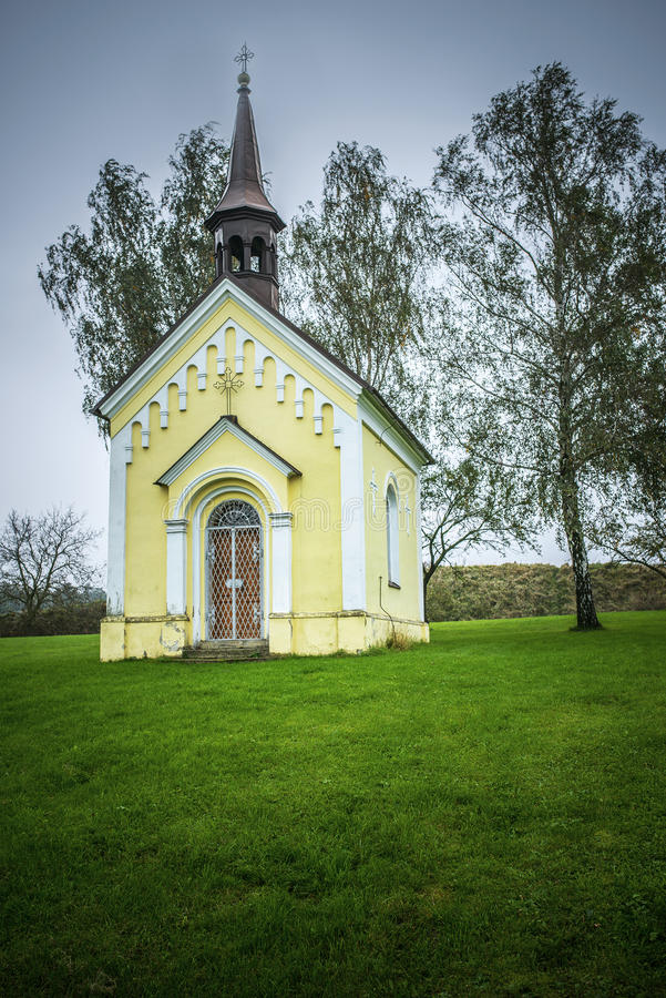 Kostel St Michael archanioł, Svabenice obrazy stock