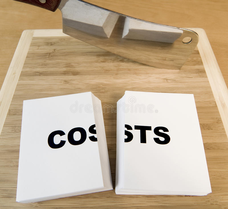 Kosten-Ausschnitt stockbilder