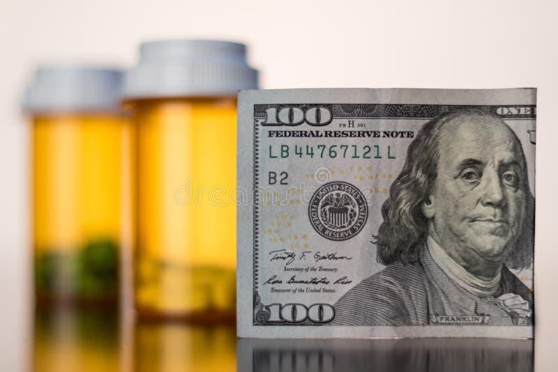 Kosten der Medikation lizenzfreies stockbild