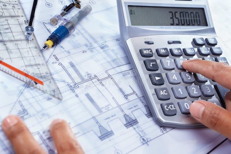Kosten Hausaufbau stockfoto