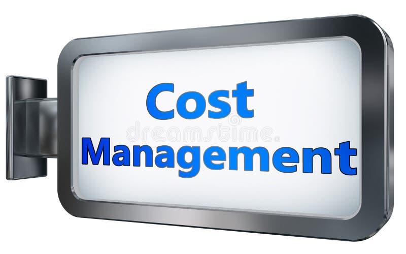 Kosten-Management auf Anschlagtafelhintergrund vektor abbildung