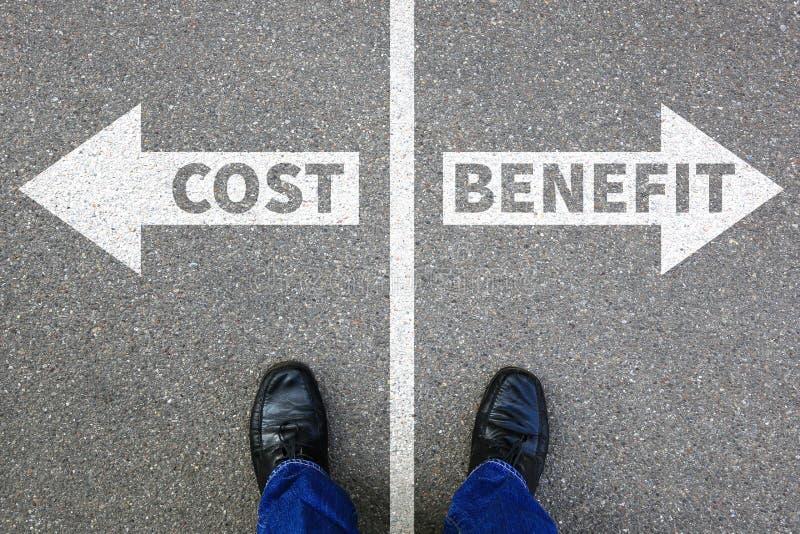 Kosten-Nutzen- Verlustgewinn finanziert Finanz- Erfolgsfirma-busi stockbild