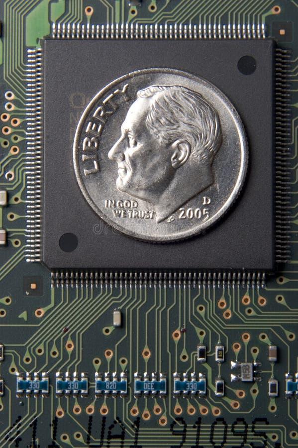 Kosten van geheugen stock afbeelding