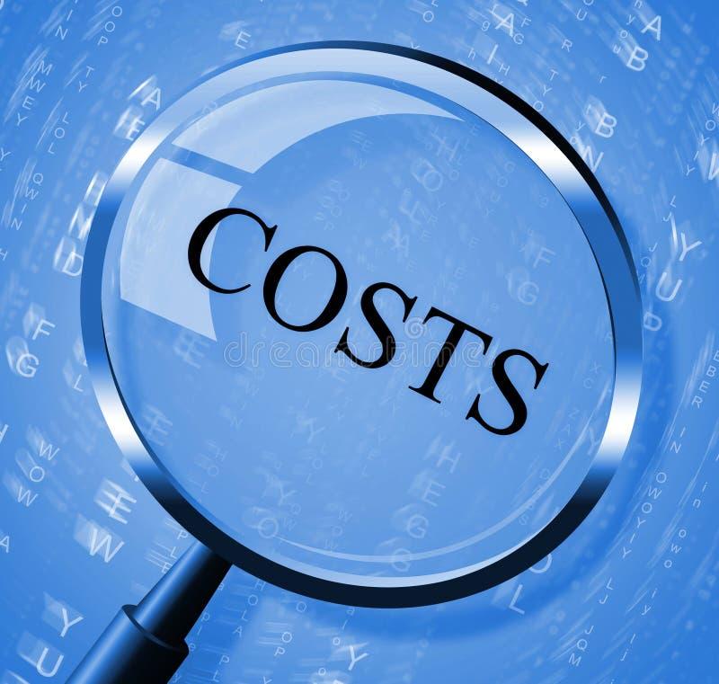 Kosten-Vergrößerungsglas-Durchschnitt-Suche vergrößern und balancieren vektor abbildung