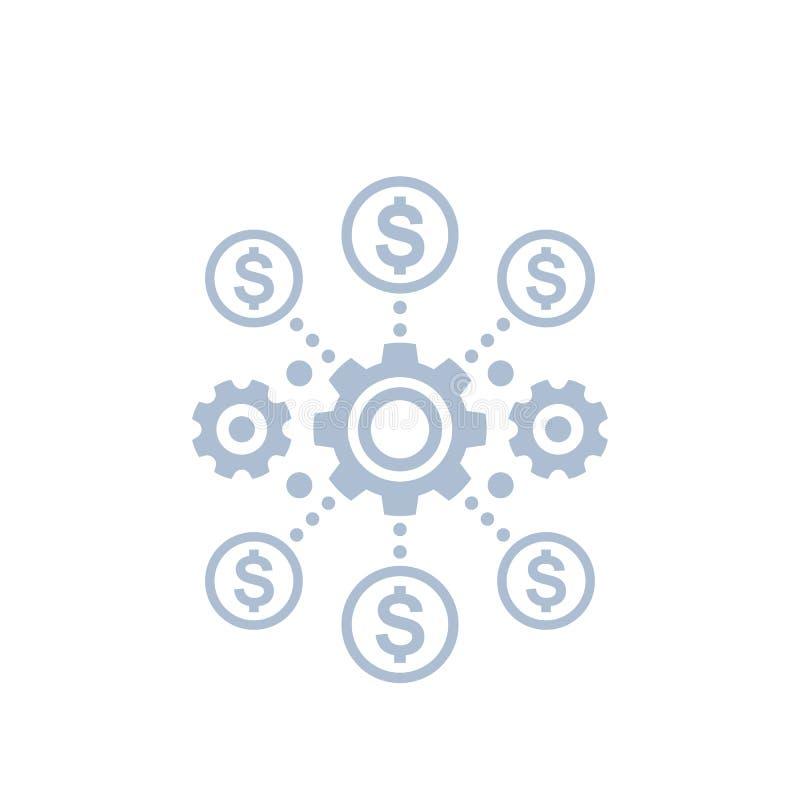 Kostenefficiency en optimalisering vector illustratie