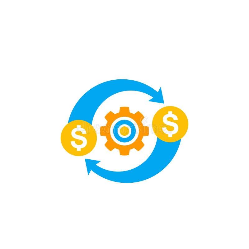 Kostenoptimalisering, efficiency en kostenbeheer royalty-vrije illustratie