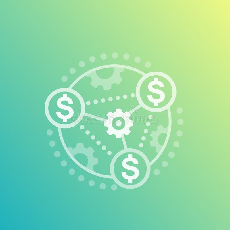 Kostenoptimalisering en financiënbeheer vector illustratie
