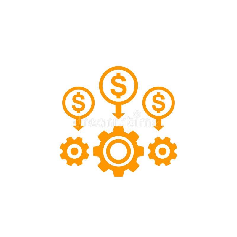 Kostenvermindering en efficiency vector illustratie