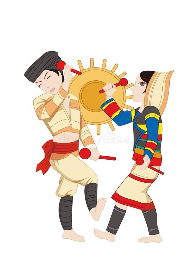 Kostiumów i ludu customs Chiński obywatel royalty ilustracja