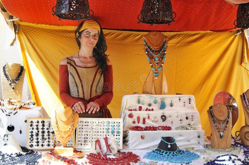 kostiumowego jewellery kram obrazy stock