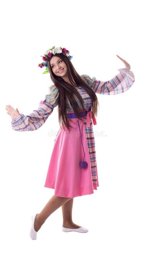 kostiumowi tana girlandy dziewczyny rosjanina potomstwa zdjęcie royalty free