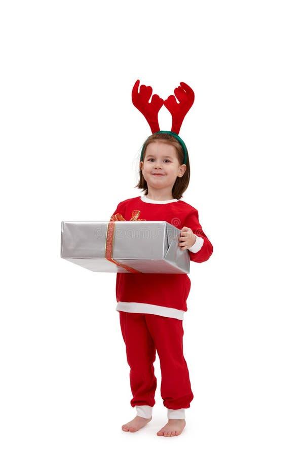 kostiumowy śliczny dzieciak Santa obrazy stock