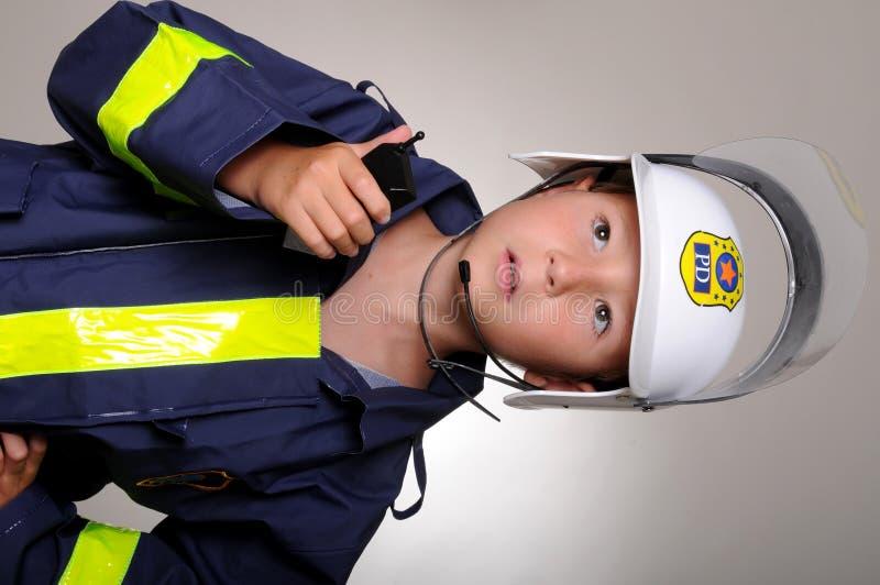 kostiumowy chłopiec policjant zdjęcie stock