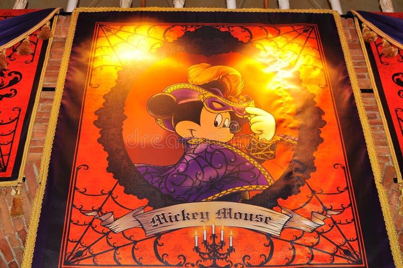 kostiumowy Disney Halloween myszki miki morze zdjęcia stock